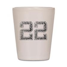 22, Vintage Shot Glass