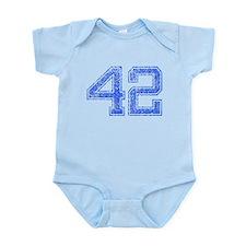 42, Blue, Vintage Infant Bodysuit