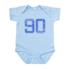 90, Blue, Vintage Infant Bodysuit