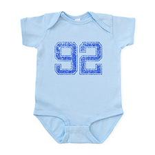 92, Blue, Vintage Infant Bodysuit