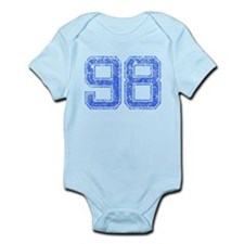 98, Blue, Vintage Infant Bodysuit