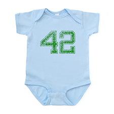 42, Green, Vintage Infant Bodysuit