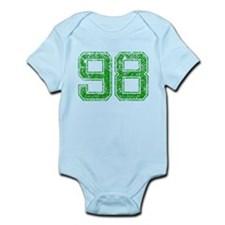 98, Green, Vintage Infant Bodysuit