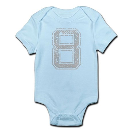 8, Grey, Vintage Infant Bodysuit