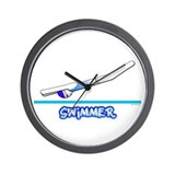 Swimmer (Girl) Blue Suit Wall Clock