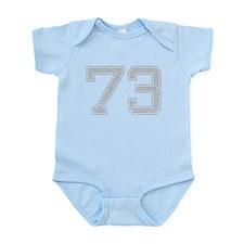 73, Grey, Vintage Infant Bodysuit