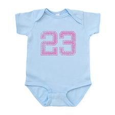 23, Pink Infant Bodysuit