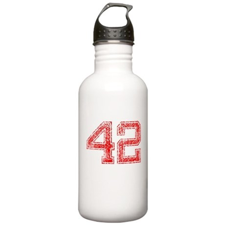 42, Red, Vintage Stainless Water Bottle 1.0L