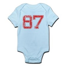87, Red, Vintage Infant Bodysuit
