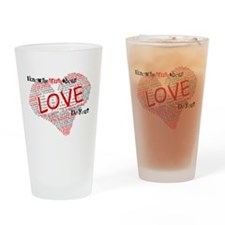 The Truth about Love Drinking Glass