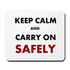 Health and Safety Keep Calm Slogan Mousepad