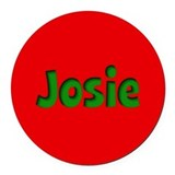 Josie Red and Green Round Car Magnet
