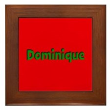 Dominique Red and Green Framed Tile