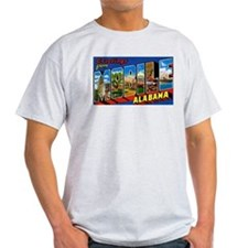 Mobile Alabama Greetings Ash Grey T-Shirt