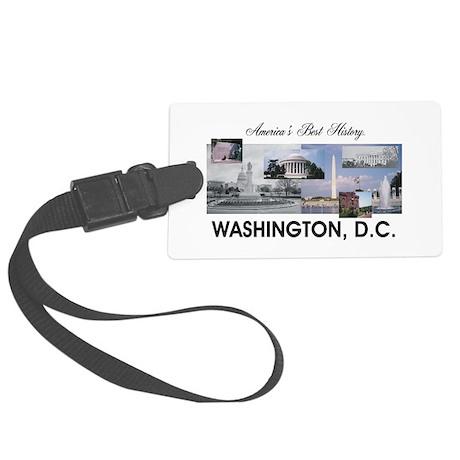 Washington Americasbesthistory.c Large Luggage Tag