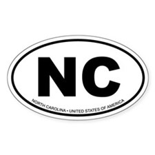 North Carolina Oval Decal