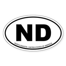 North Dakota Oval Decal
