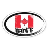 Banff Grunge Flag Decal