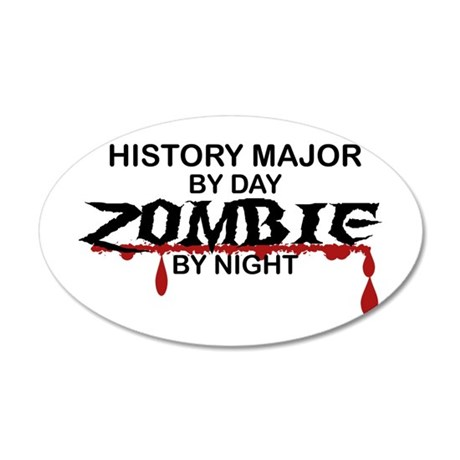 History Major Zombie 20x12 Oval Wall Decal