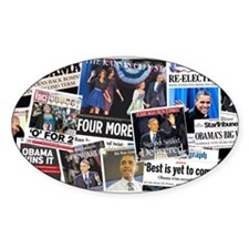 Obama Wins 2012 Newspaper Decal