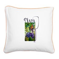 Napa Cabernet Square Canvas Pillow