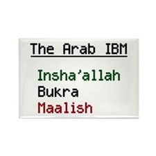 The Arab IBM Rectangle Magnet (10 pack)