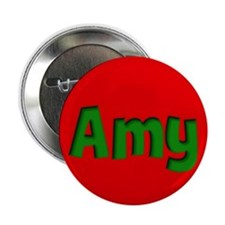 "Amy Red and Green 2.25"" Button (10 pack)"