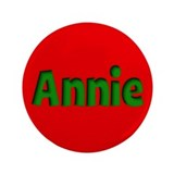 Annie Red and Green 3.5&quot; Button