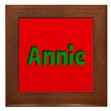 Annie Red and Green Framed Tile