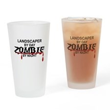 Landscaper by Day Zombie by Night Drinking Glass