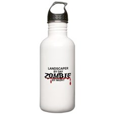 Landscaper by Day Zombie by Night Water Bottle