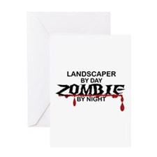 Landscaper by Day Zombie by Night Greeting Card