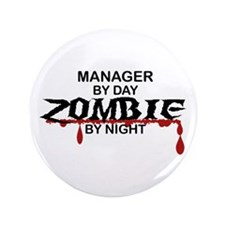 "Manager Zombie 3.5"" Button (100 pack)"