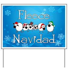 Fleece Navidad Yard Sign