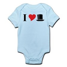 I Love Tophats Infant Bodysuit