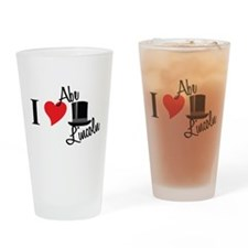 I Love Abe Lincoln Drinking Glass