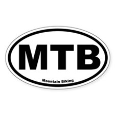 MTB (Mountain Biking) Oval Decal