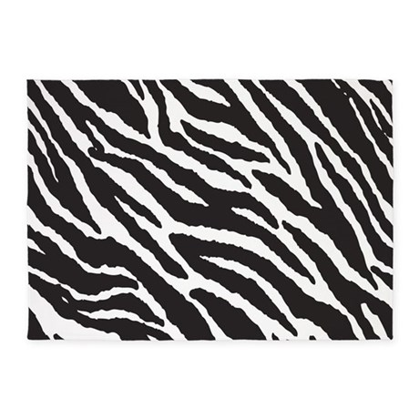 Zebra Stripes Rug 5'x7'Area Rug