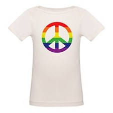 Big Rainbow Stripe Peace Sign Tee