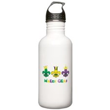 Mardi Gras Royalty Party New Orleans Water Bottle