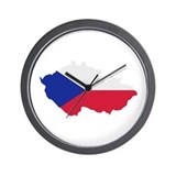 Czech Republic map flag Wall Clock