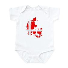 Denmark map flag Infant Bodysuit