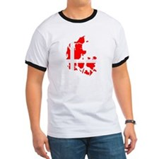 Denmark map flag T