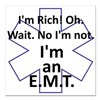 "Rich EMT Square Car Magnet 3"" x 3"""