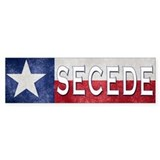 Texas Flag Secede Bumper Stickers