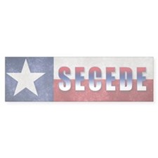 Texas Flag Secede Bumper Sticker
