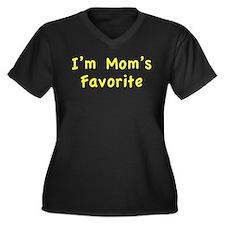 I'm mom's favorite Women's Plus Size V-Neck Dark T