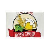 Beer Crew Rectangle Magnet