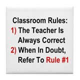 Classroom Rules Tile Coaster