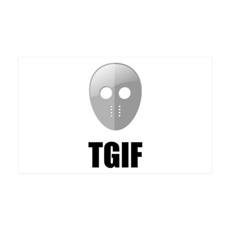 TGIF Jason Hockey Mask 35x21 Wall Decal